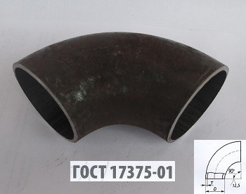 Отвод стальной 108*3,5 гост 17375-01