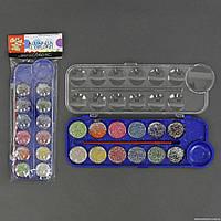 Краски акварельные 01431 (144) 12 цветов, с кисточкой, в кульке