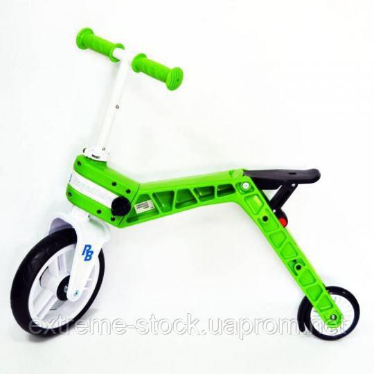 Беговел-самокат Real Baby, зеленый