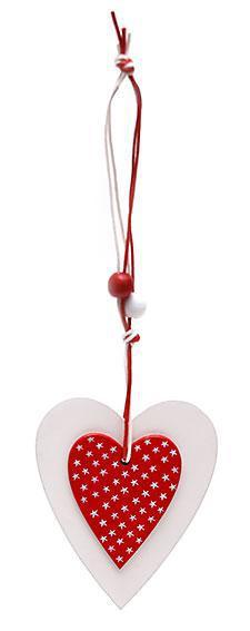 Набор елочных украшений в форме сердца (2шт), 781-200