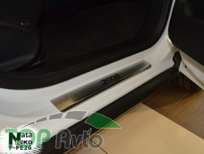 Nataniko Накладки на пороги Peugeot 2008 2013-2016- (Premium)