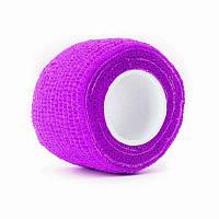 Бандаж фиолетовый широкий