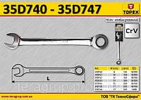 Ключ комбинированный с трещоткой  L1-165мм, 12мм.,  TOPEX  35D747