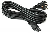 Силовой сетевой кабель для ноутбука 220В 3 pin