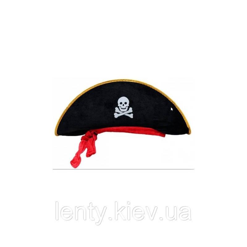 Шляпа Карнавальная Пиратская детская/азрослая Пираты (золото)