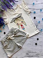 Летний костюм для девочки Breeze 1. Размер 86 см, 92 см, 104 см, 110 см