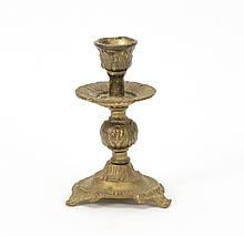 Старий бронзовий свічник, лиття, бронза, Німеччина
