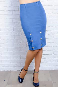 Голубая джинсовая юбка Старла, батал
