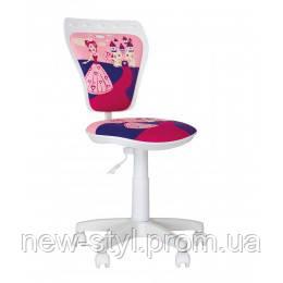 Детское кресло MINISTYLE WHITE (Министиль Принцесса) Princess с полиуретановыми роликами