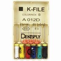 K - Files 15-40 21 mm Colorinox DENTSPLY MAILLEFER (К-файл 15-40 21 мм Майлифер)