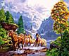 VP924 Набор-раскраска по номерам Лошади на берегу горного озера