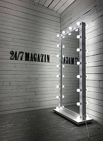 Зеркало с подсветкой Sank ДСП Белое 36 ламп (Markson TM)