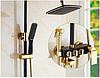 Стойка,душевая система в ванную комнату 5-026 черная