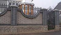 Строительство забора кирпич, камень и ковкой