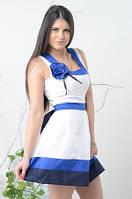 Платье летнее хлопок, с юбкой клешь, пояс завязывается на спинке, размер 48 код 4732М