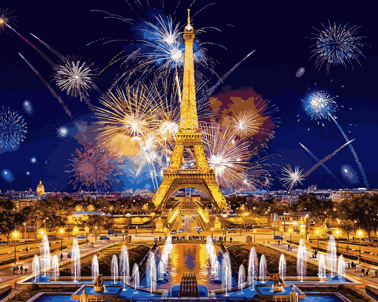 VP938 Набор-раскраска по номерам Салют над Парижем