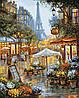 """VP941 Раскраска по номерам """"Летний дождь в Париже"""""""