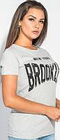 Легкая женская футболка серого цвета