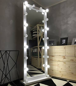 Зеркало с подсветкой Paks ДСП Белое 18 ламп (Markson TM)
