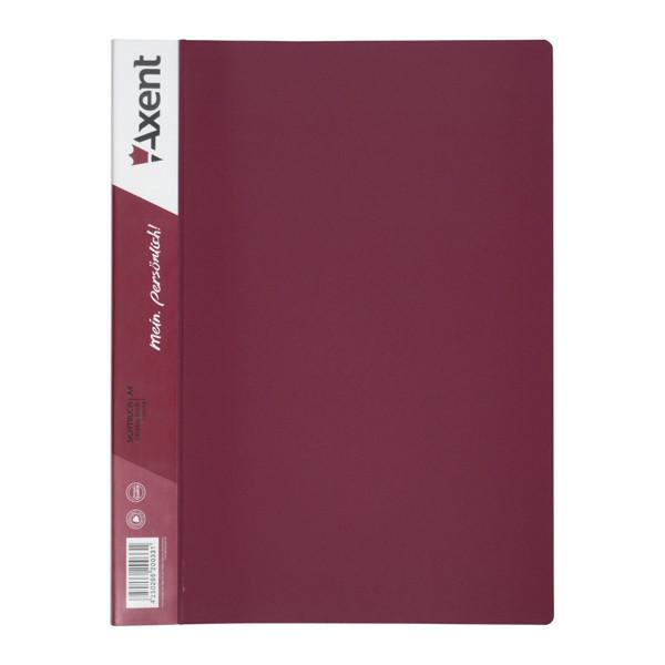 Дисплей-книга 30 файлов, бордовая
