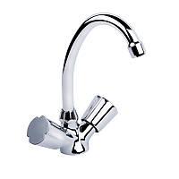 Смеситель для кухни двухвентильный Q-tap Mix CRM 271 хром