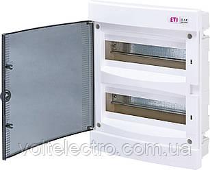Щит внутрішньої розподільчий ЄСМ 24 РТ (24 мод. прозора двері) 1101012
