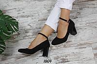 Туфли Dora с декорированным каблучком Материал: эко-замш Цвет: черный