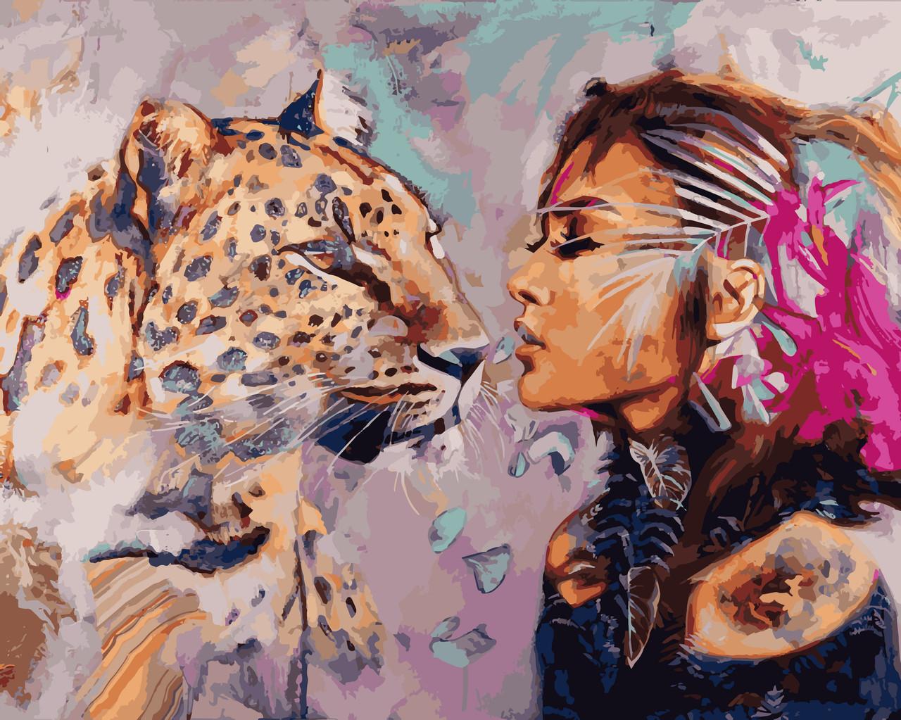 VP968 Набор-раскраска по номерам Душа кошки худ. Димитра Милан