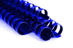 Пружина пластиковая 38 мм, синие (50 шт)