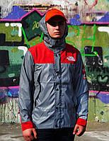 Рефлективна куртка Supreme x The North Face red Реплика