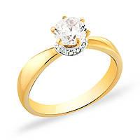 Невероятно роскошное помолвочное кольцо из желтого золота