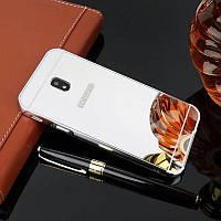 Зеркальный Чехол/Бампер для Samsung Galaxy J5 2017 / J530, Серебро (Металлический)