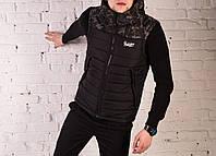 Жилетка Pobedov vest blast-off черный камуфляж