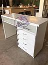 Маникюрный стол с удобными ящиками, белый, фото 2