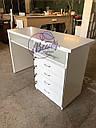 Маникюрный стол с удобными ящиками, белый, фото 3