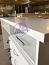 Маникюрный стол с удобными ящиками, белый, фото 4