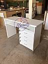 Маникюрный стол с удобными ящиками, белый, фото 6
