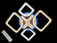 Потолочная LED люстра с пультом управления и подсветкой MX2281/2+2 WH LED dimmer DIASHA