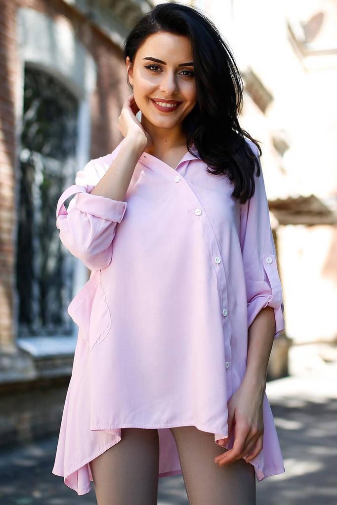 Светло-сиреневая рубашка Deborah