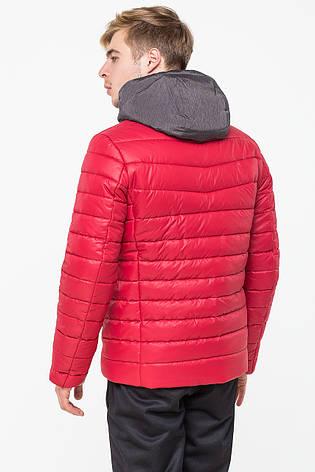 Теплая зимняя мужская куртка красного цвета Т-273 (#379), фото 2