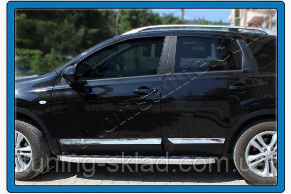Хром молдинг дверной Nissan Qashqai 2010-2014  (Ниссан Кашкай)