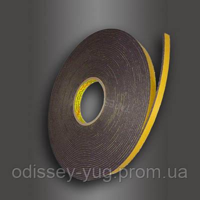 Двусторонняя клейкая лента 3M 9556В ( 9 мм х 16.4 м. х 3 мм.) Скотч временной фиксации.Акриловая.Серая.9556.