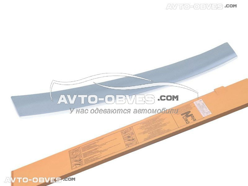 Накладка на задний бампер с загибом для Шевролет Авео III 4D 2011-2016