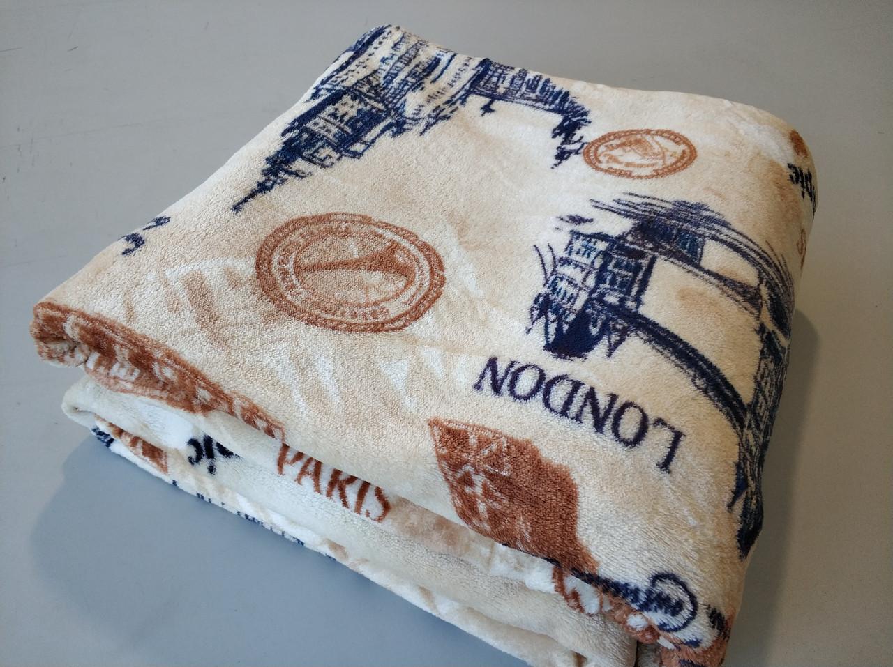 Микрофибровая простынь, покрывало TRUE LOVE евро Города