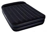Двухспальная надувная флокированная кровать BestWay с подголовником, 203х152 х46 см  (67403)