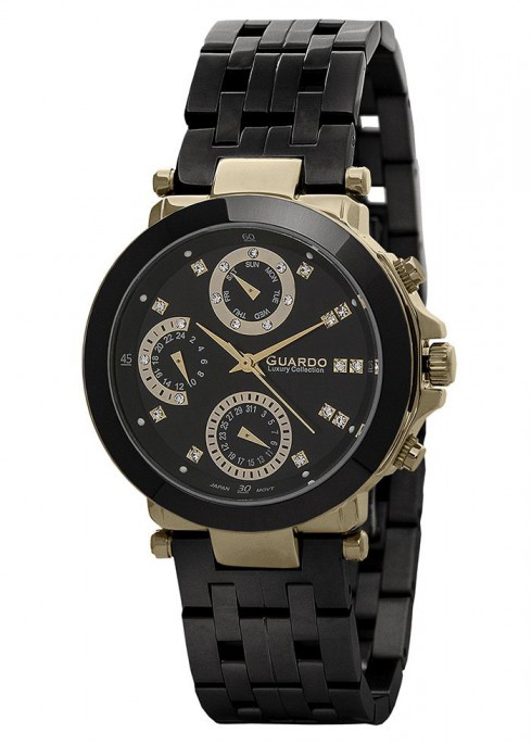 Жіночі наручні годинники Guardo S00778(m) GBB