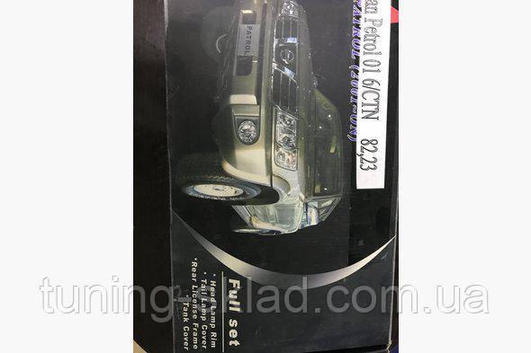 Хром комплект накладок  Nissan Patrol Y61 1997-2011  (Ниссан Патрол)