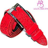 Ремень женский кожа красный 25 мм-купить оптом в Одессе