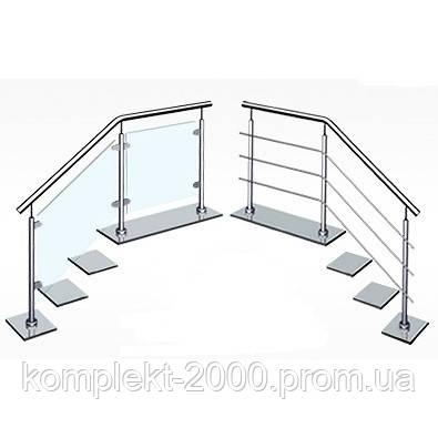 Металлические ограждения лестницы из нержавейки   Лестничные перила и поручни из нержавеющей стали - Цена