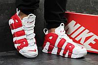 Кроссовки Nike Air More Uptempo 96 белые с красным